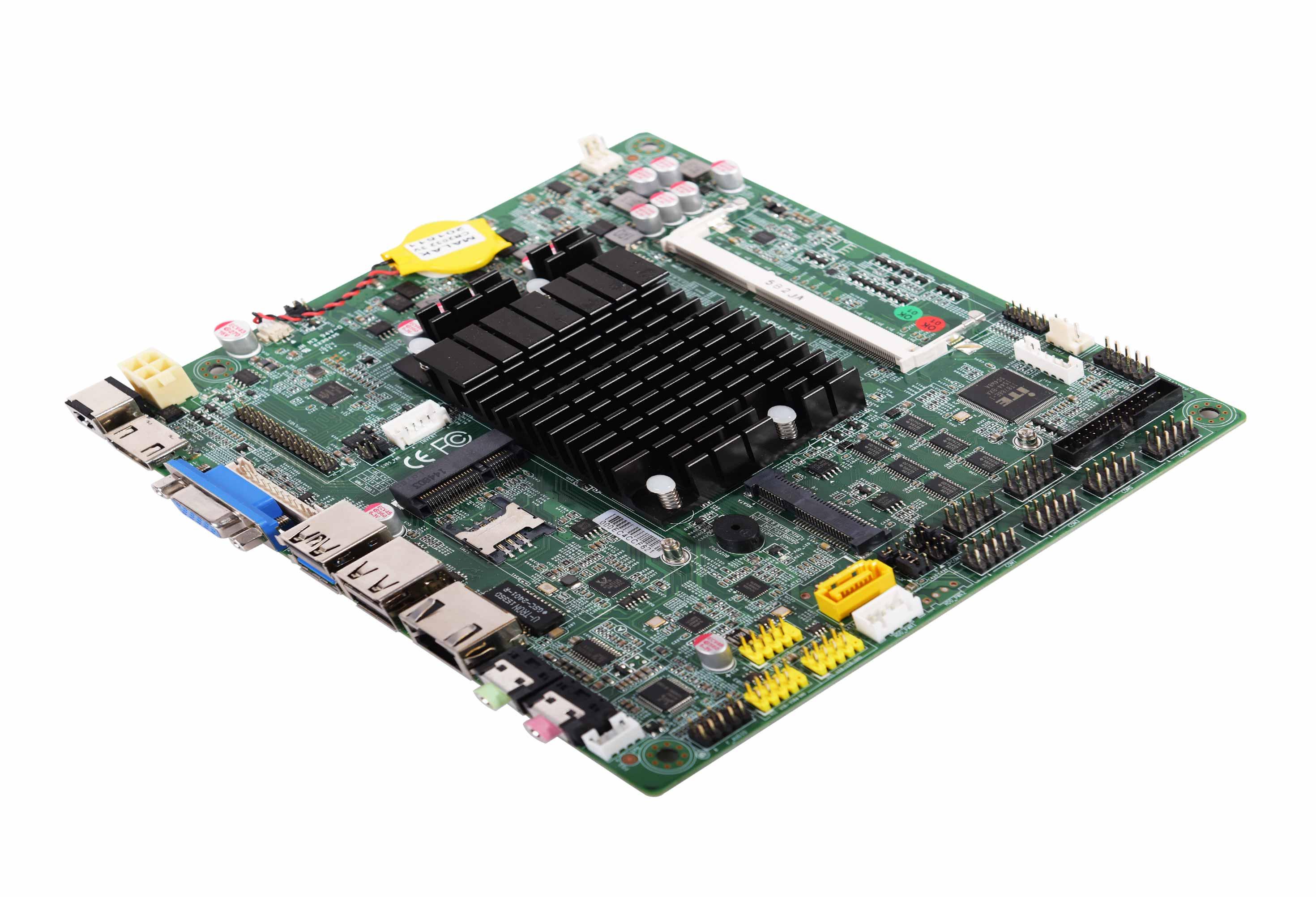 板贴Intel® Bay Trail J1800(可选J1900) 双核2.41GHz CPU,可睿频至2.58GHz VGA, LVDS(EDP)支持同步/异步双显功能 2COM RS-232,COM1兼容RS-485,,8 USB 2.0, 1 USB 3.0, 8-bit GPIO, WIFI, 3G, SSD 板载功放,提供数字音频SPDIF支持 无盘启动,网络唤醒,上电开机,定时开机 板载集成Intel HD4000显示核心